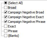 Filter-Negative-Keywords