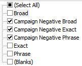 Filter-Negative-Keywords