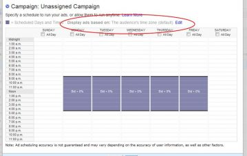 Yahoo AdScheduling