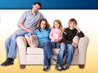 Image of a family was substituted for a landing page test